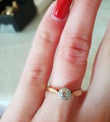 Prsten zlato i briljant 0.30 prirodni