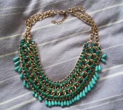 Plava ogrlica na