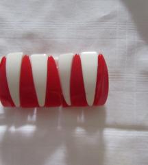 Narukvica bijelo - crvena