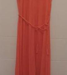 Maxi koraljna haljina