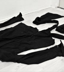 Zara crna košulja na vezanje