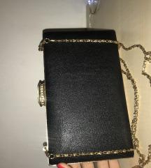 Svečana crna clutch torba