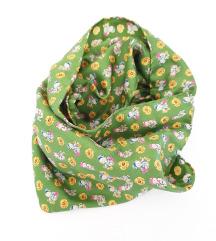 Zelena marama s medvjedićima 100% svila