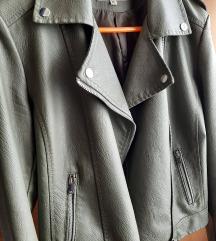 *REZERVIRANO* Zelena kožna jakna 40/42