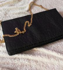 Crna torba zlatni lanac
