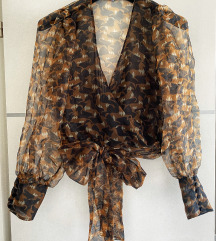 Zara organza leopard bluza