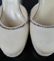 Do ned 450!Twin Set, kozne sandale  sa cirkonima