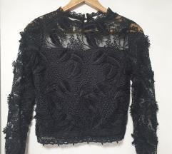 Crna čipkana bluza 💙