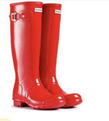 Hunter gloss red cizme