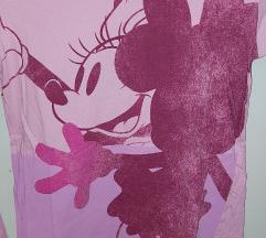 Roza majica dugih rukava Minnie Mouse