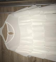 Bijela bluza s volanima