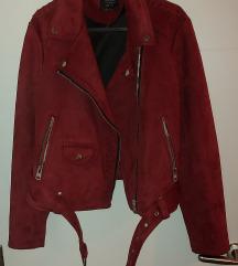 Bordo biker jakna