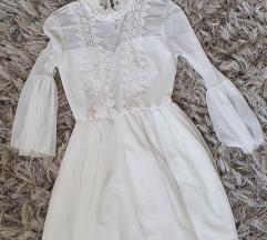Nova bijela haljina s čipkom S