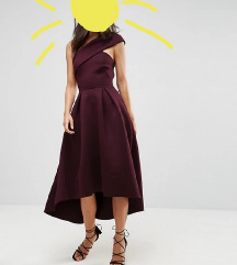 Asos scuba aubergine haljina