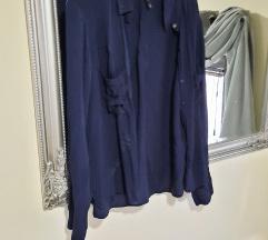 Bershka plava košulja viskoza%