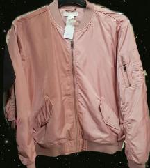 H&M roza bomber jakna M/L