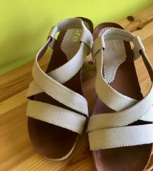 Bijele kožne sandale RASPRODAJA!