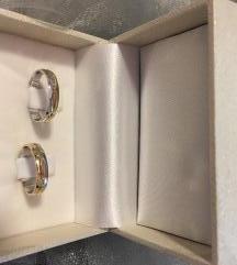 Verice vjenčano prstenje bijelo žuto zlato - novo