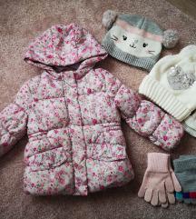 Zimska jaknica 92 + kapice/šal/rukavice