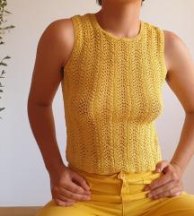 Handmade crochet žuti top