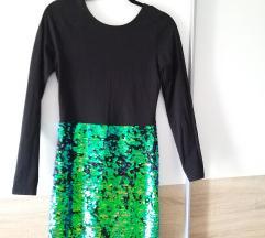Haljina sa sljokicastom suknjom