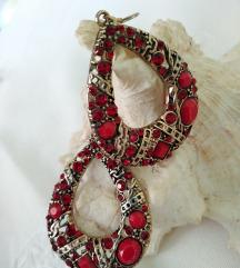 Vintage crvene naušnice