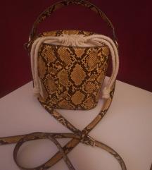 Žuta torba zmijskog uzorka