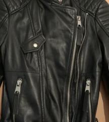 ZARA  kožna jakna -prava koža
