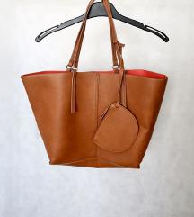 Smeđa Mango torba s malom torbicom
