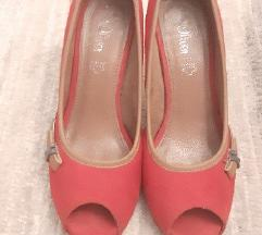 %% S.Oliver peep toe crvene cipele/ štikle