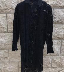 Zara čipkasta košulja/haljina XS