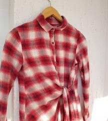 ZARA karirana crvena košulja dugih rukava