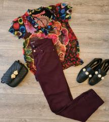 Ljubičaste skinny hlače + poklon Desigual majica