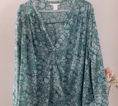 H&M tirkizna bluza XL