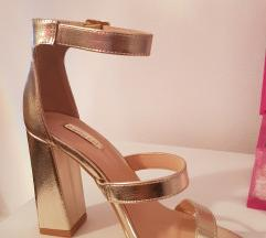 Cipele na petu, zlatne