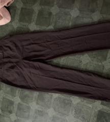 Smeđe poslovne hlače 38