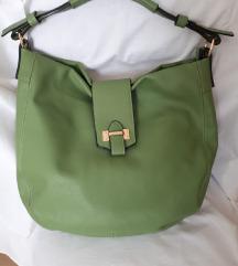 Prostrana zelena hobo torba