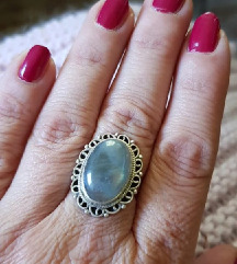 Labradorite srebrni prsten