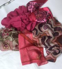 LOT of 4 nove svilene male marame