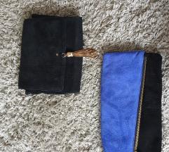 Plava i crna torbica