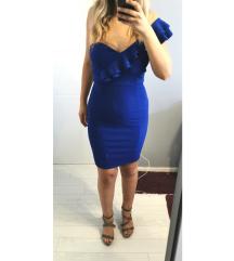 Uska pariško plava haljina