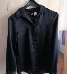 Satenska crna košulja