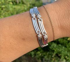 Masivna ogrlica / narukvica srebro
