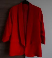 Novi crveni strukirani sako