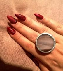 Glass Land prsten-ručni rad🎀