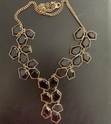 Zlatno crna ogrlica
