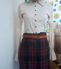 Vintage karirana suknja