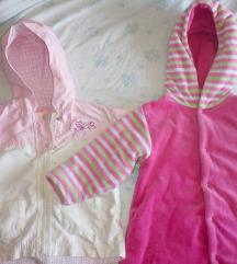 Vjetrovka i futrana jakna za djevojčicu 74-80
