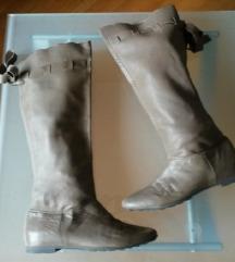 Kožne čizme s mašnom