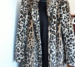 H&M leopard kaput od umjetnog krzna